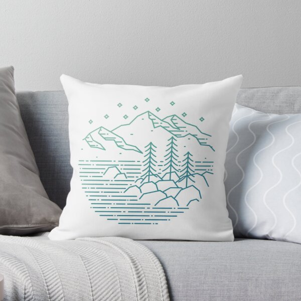 Still Water - Lake Tahoe, Nevada Throw Pillow