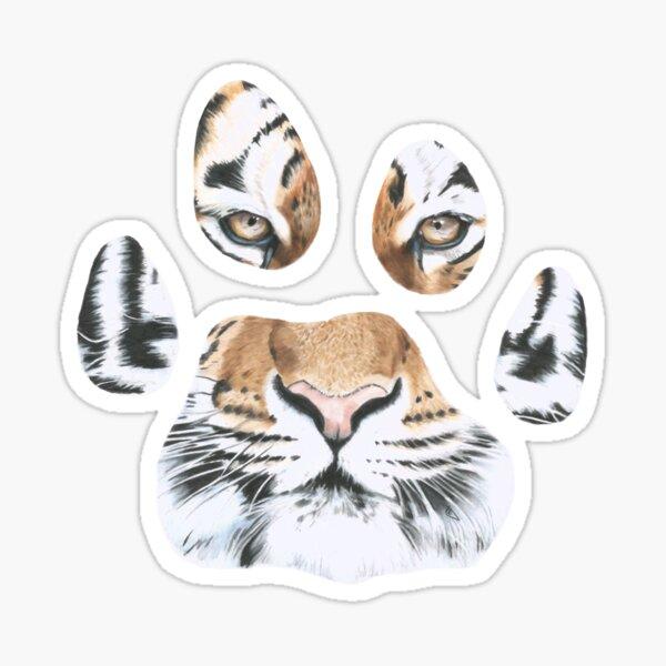 Tiger paw print Sticker
