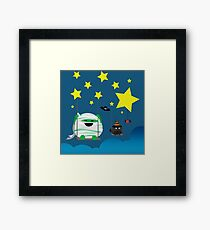 Halloween - Mochi and Friends Swinging on Stars Framed Print