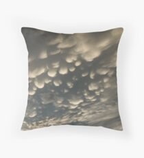 Phenomenal Sky - Fascinating Mammatus Clouds Throw Pillow