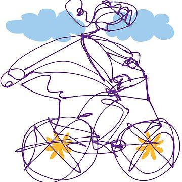 Free Spirit - Bike B by Landrigan