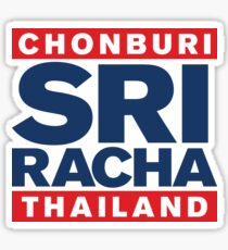SRIRACHA, CHONBURI, THAILAND ~ THAI FLAG ~ Sticker