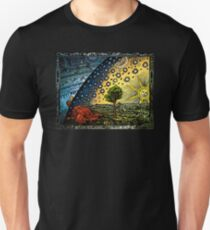 Flat Earth Art Unisex T-Shirt
