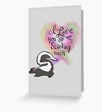 Stinking Adorable Baby Skunk Greeting Card
