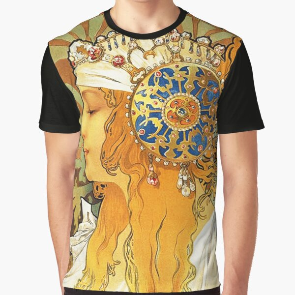 HD Byzantine Heads: Blonde (1897) Mucha T shirts/Pillows/and more Graphic T-Shirt