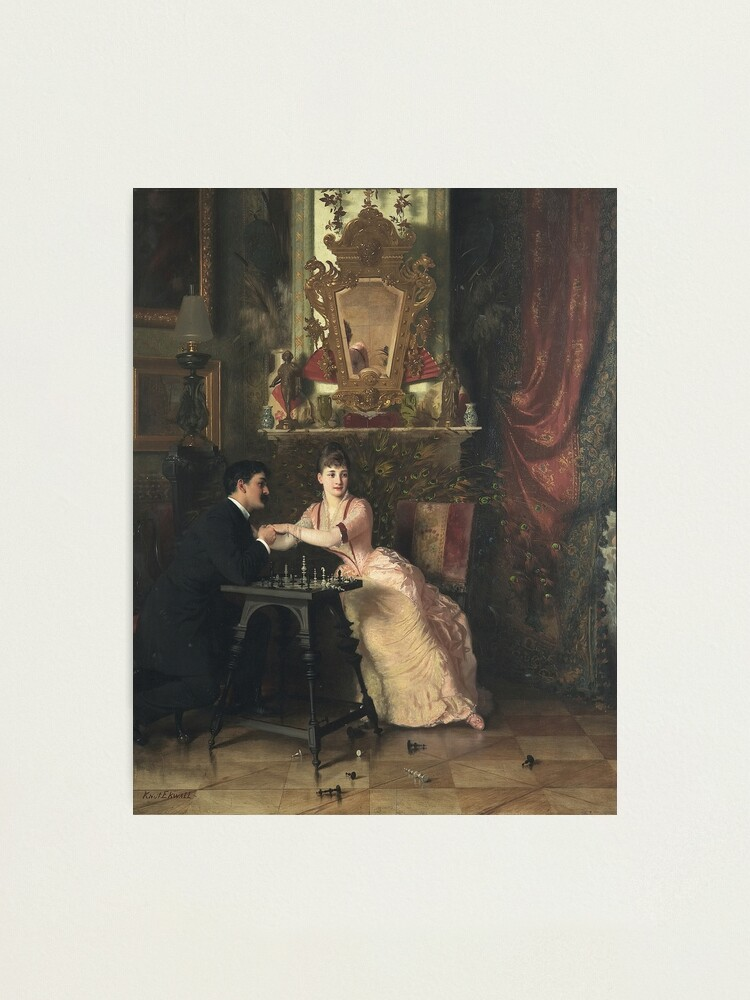 Alternate view of The Proposal Oil Painting by Knut Ekwall  Photographic Print