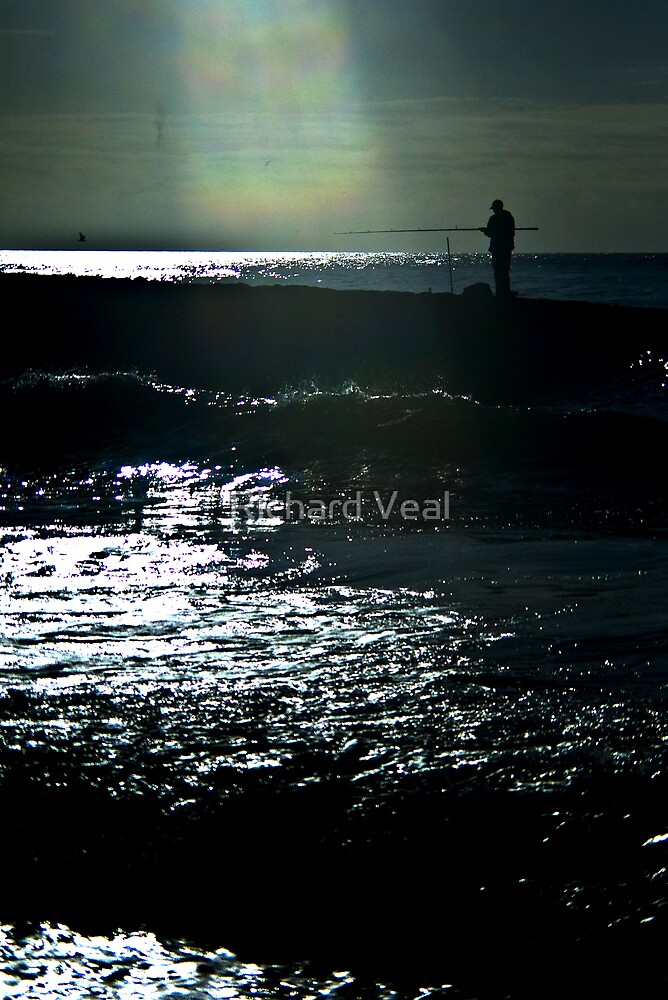 Fisherman Silhouette by kcphotography