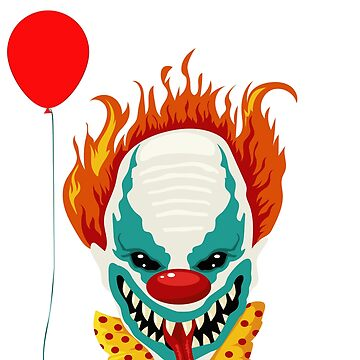 Halloween Scary Clown by inkwear