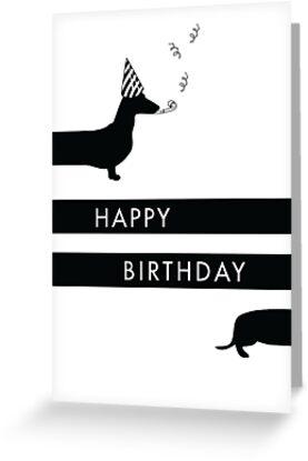 Dachshund Happy Birthday design by miluri