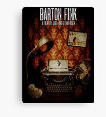 Coen Brothers Classic Film Barton Fink Canvas Print