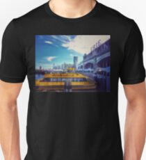 New York Water Taxi - From Erie Lackawanna Railroad Station - Hoboken T-Shirt