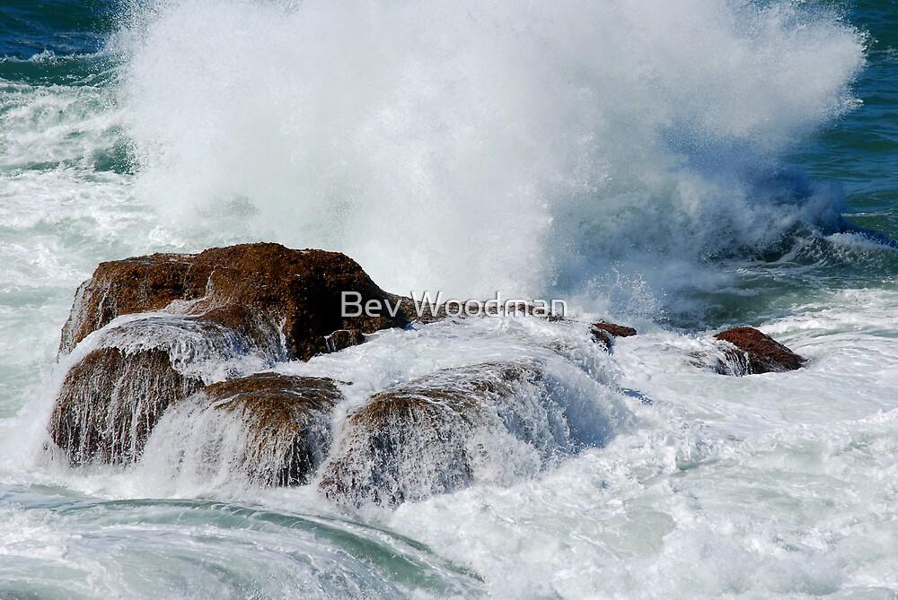 Ocean Water Fall - Fraser Park NSW by Bev Woodman