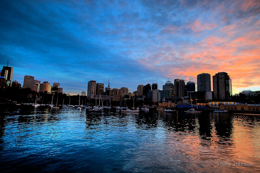 Blue Fire - Lavender Bay - Moods Of A CIty - The HDR Series by Philip Johnson