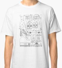 La La Land Flatlay Illustration Black & White Line Drawing Classic T-Shirt