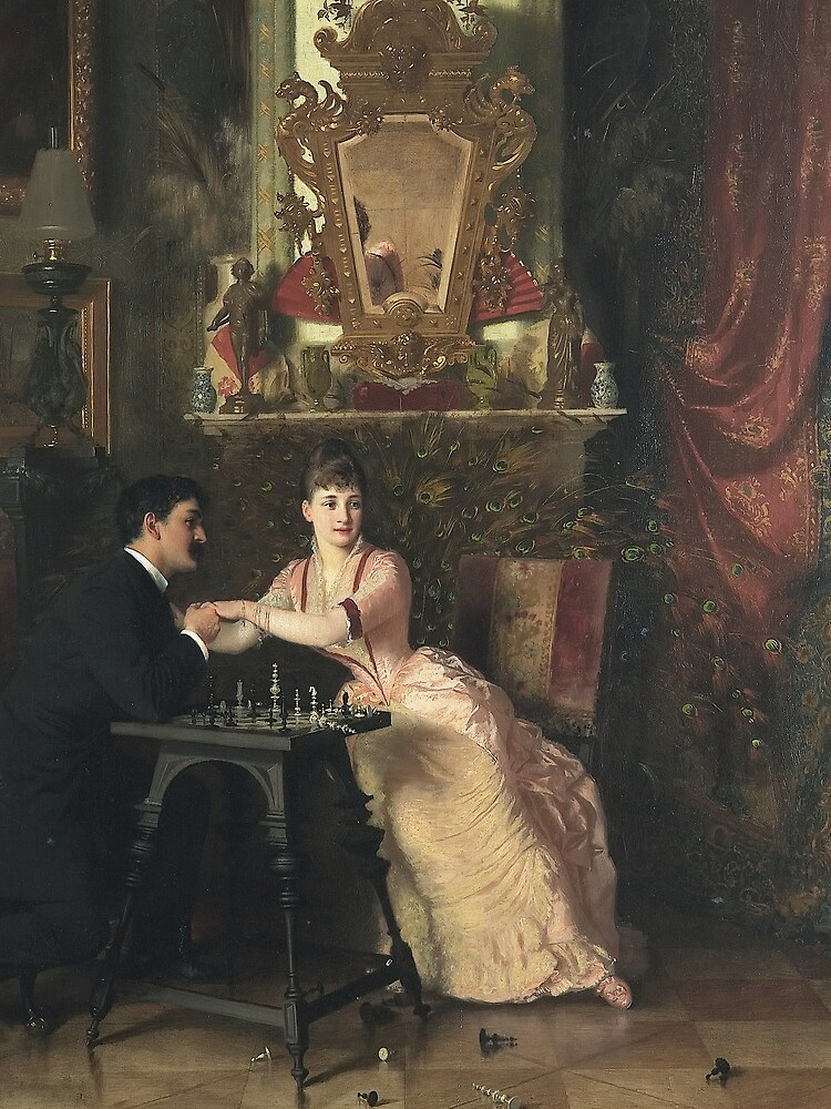 The Proposal Oil Painting by Knut Ekwall  by podartist