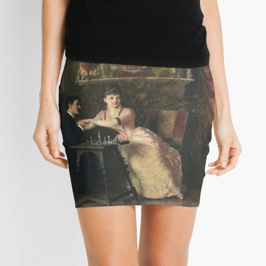 The Proposal Oil Painting by Knut Ekwall  Mini Skirt