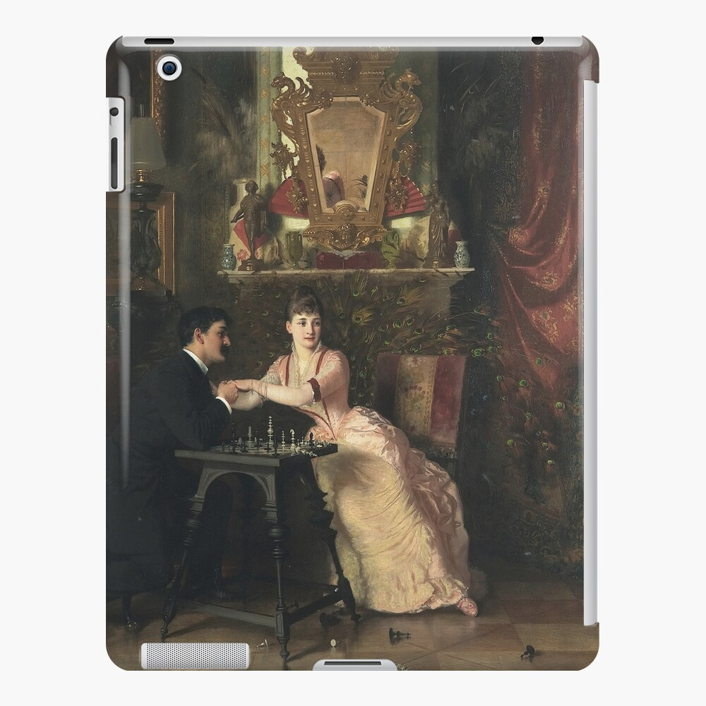 The Proposal Oil Painting by Knut Ekwall  iPad Case & Skin