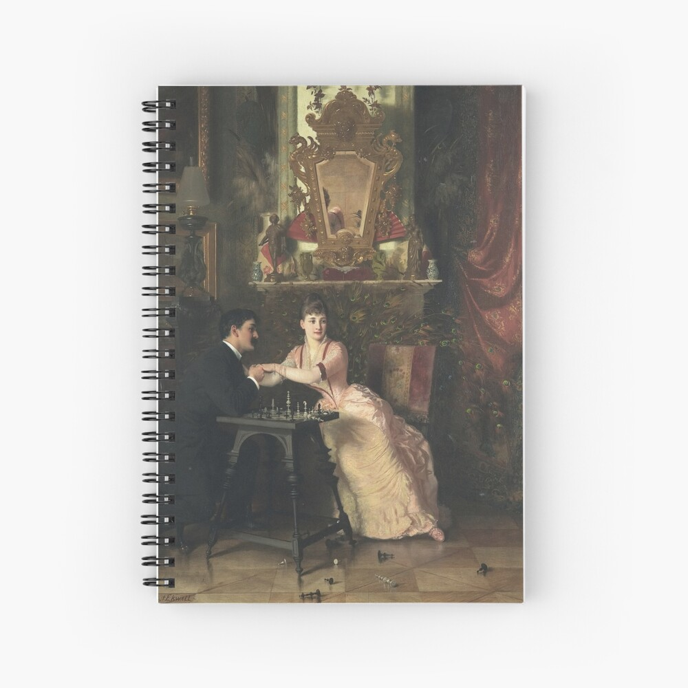 The Proposal Oil Painting by Knut Ekwall  Spiral Notebook