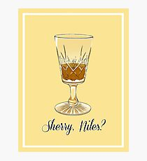 Sherry, Niles? Photographic Print