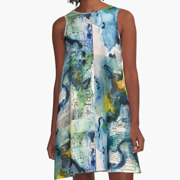 Into The Music A-Line Dress