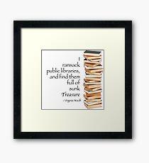 Ransack Libraries Framed Print
