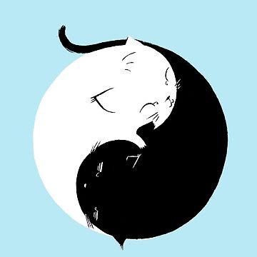 Yin Yang Kittens by AlanBaoArt