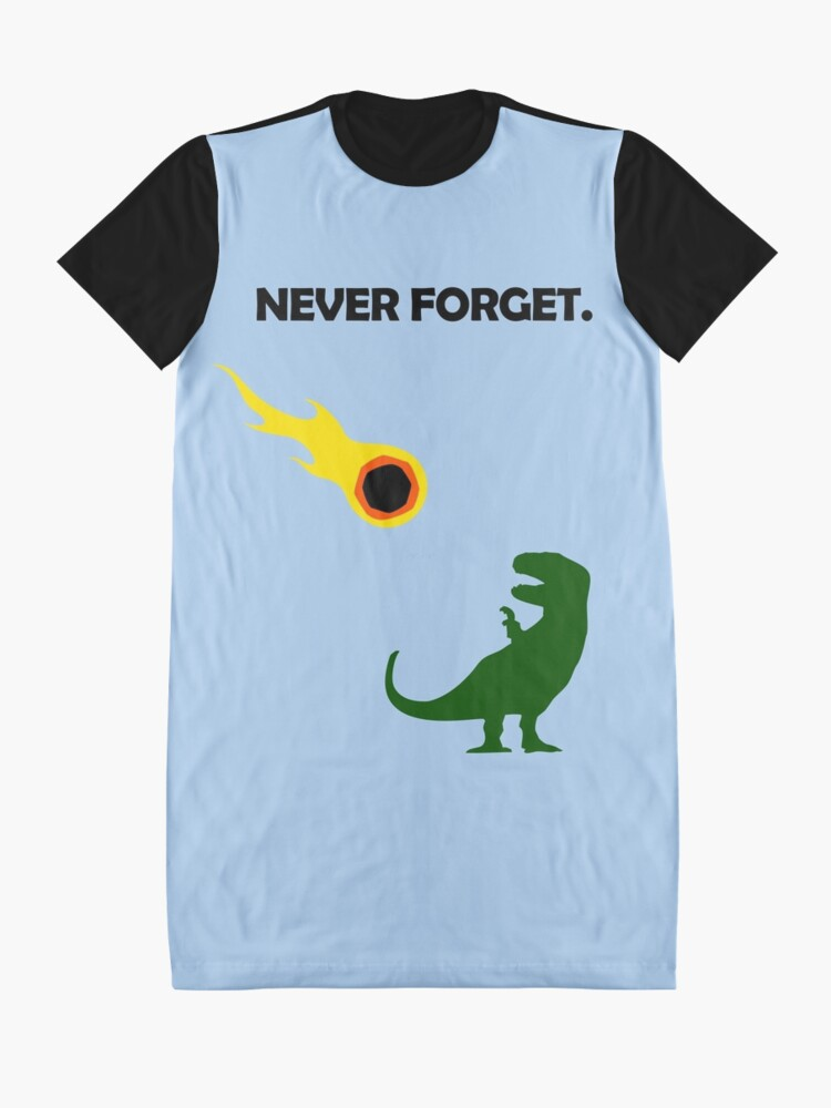 Alternate view of Never Forget (Dinosaurs) Graphic T-Shirt Dress