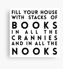 Dr. Seuss Fill Your House with Stacks of Books Canvas Print