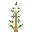A tree with Owls by ikshvaku