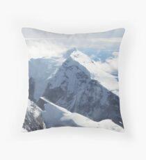 Schneebedeckte Spitze Dekokissen