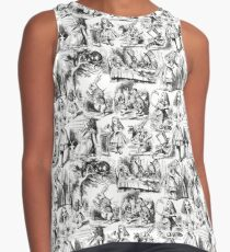 Alice in Wonderland | Toile de Jouy | Black and White Contrast Tank