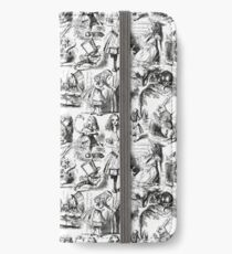 Alice in Wonderland | Toile de Jouy | Black and White iPhone Wallet/Case/Skin