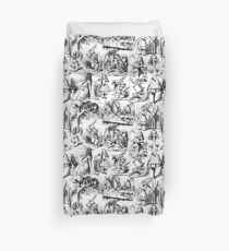 Funda nórdica Alice in Wonderland | Toile de Jouy | En blanco y negro