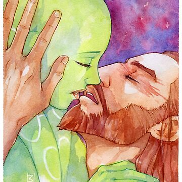 Kanera watercolor kiss by lornaka