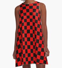 Chequered Racing Flag  A-Line Dress