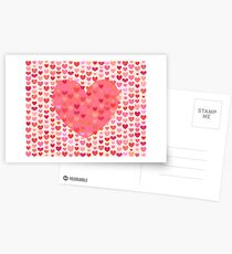 Saint Valentine's Day Heart Postcards