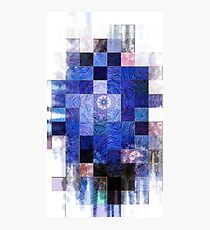 Blue Mosaic 2-Available In Art Prints-Mugs,Cases,Duvets,T Shirts,Stickers,etc Photographic Print