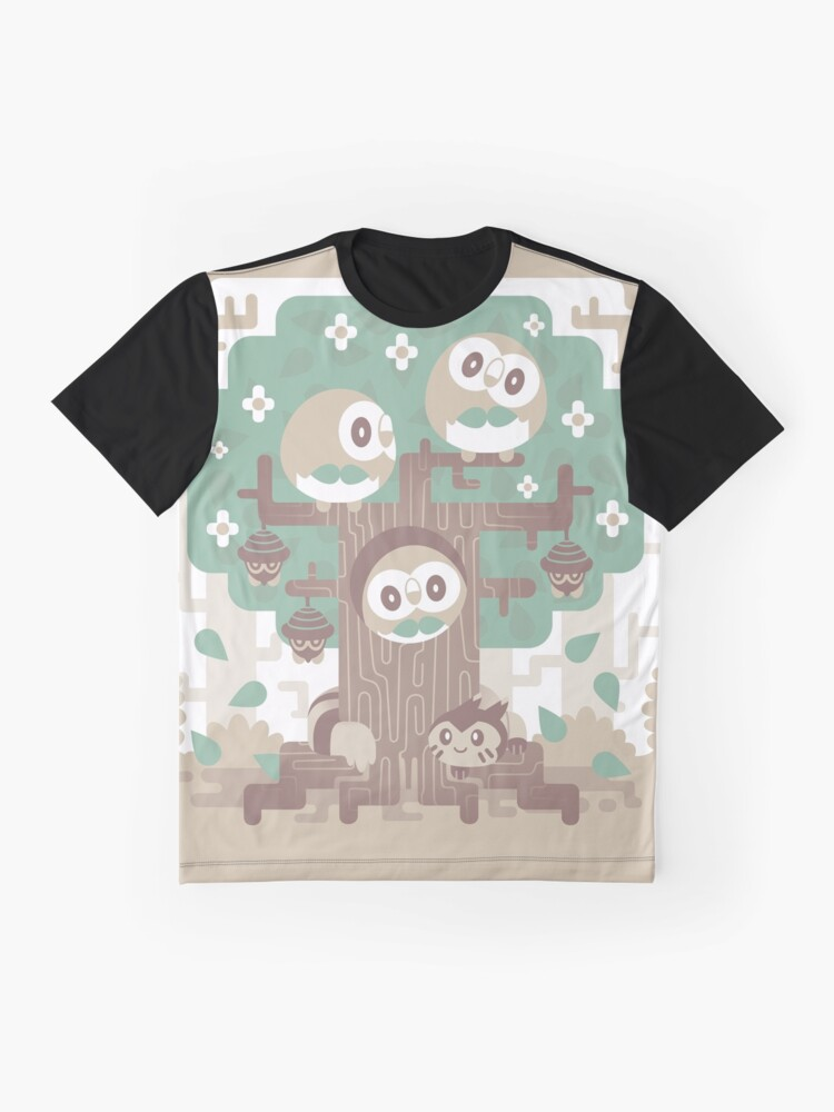 Alternative Ansicht von Holz Eule Holz Grafik T-Shirt