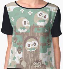 Wood Owl Woods Chiffon Top