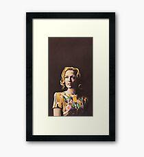 Gillian Anderson Hummingbird Dress Original Painting Framed Print