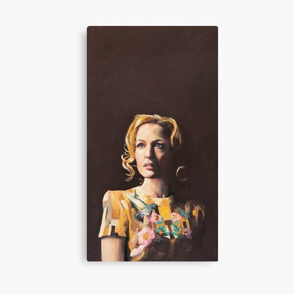 Gillian Anderson Hummingbird Dress Original Painting Canvas Print