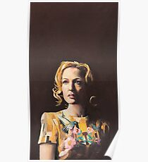 Gillian Anderson Hummingbird Dress Original Painting Poster