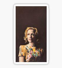 Gillian Anderson Hummingbird Dress Original Painting Sticker