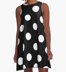 Black and White Polka Dots  A-Line Dress