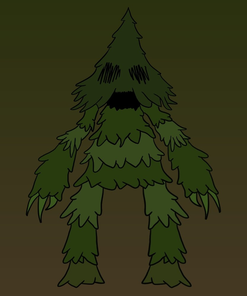 Tree guard with background (Don't Starve) by MegaChicken