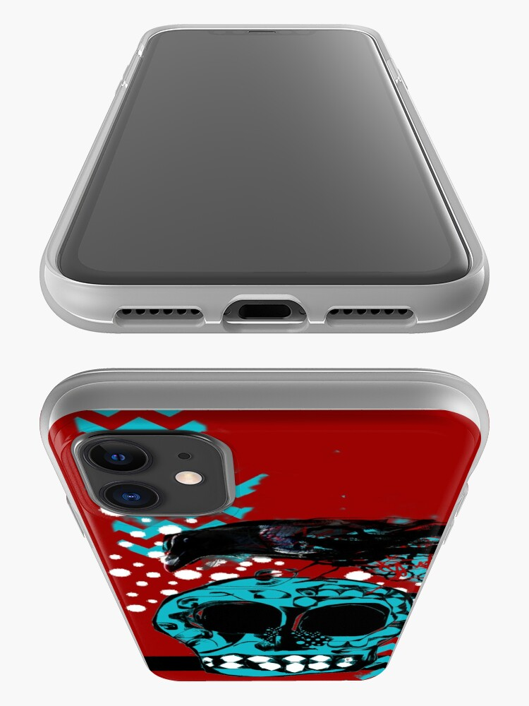 Alternate view of Crow and Skull Contemplation  iPhone Case & Cover