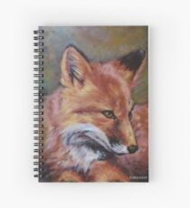 Wildlife Fox Painting by Kathy Spiral Notebook
