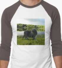 Cat with pond and landscape scenery  T-Shirt