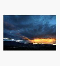 Stormy Sunset Skies Photographic Print