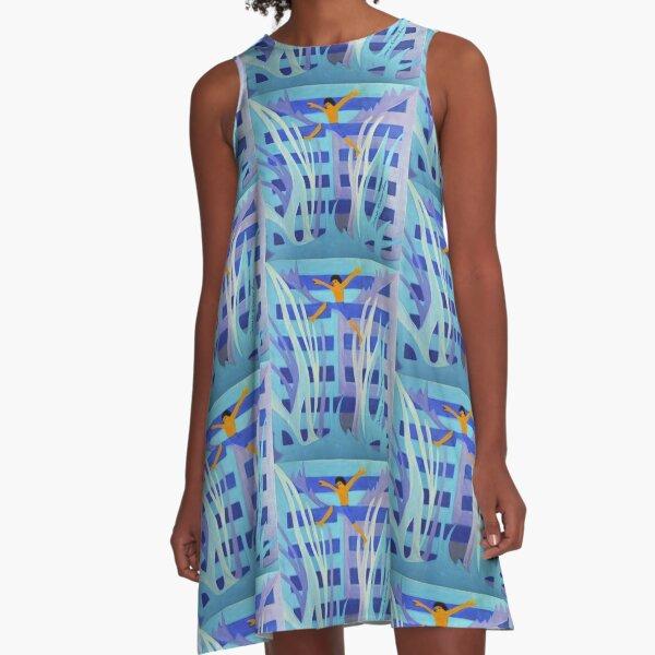 Hexagram 4: Mêng (Youthful Folly)  A-Line Dress